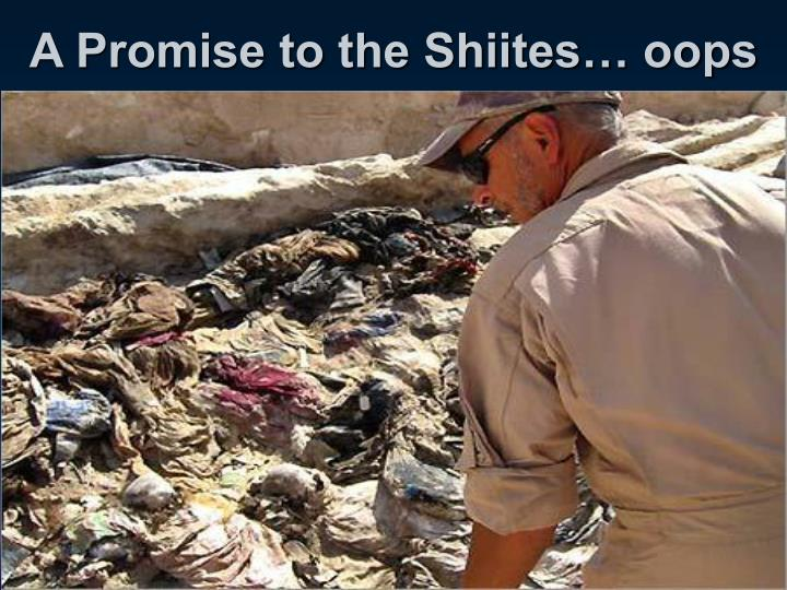 A Promise to the Shiites… oops