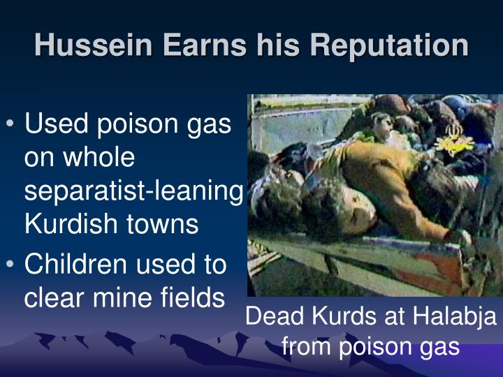 Hussein Earns his Reputation
