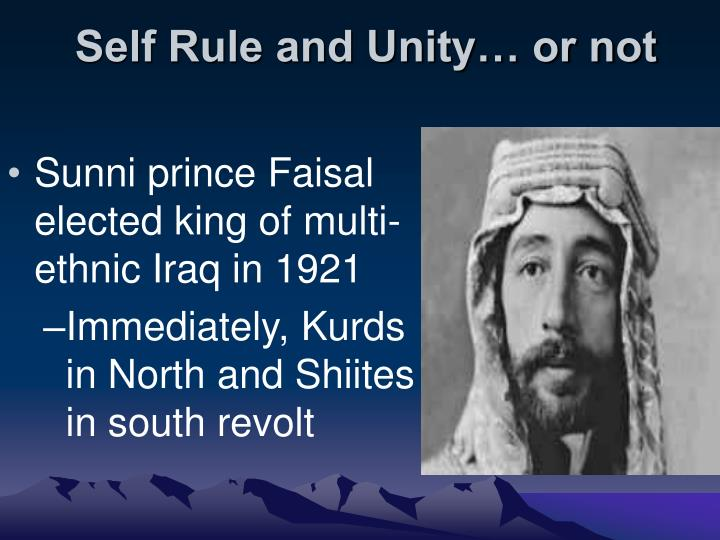 Self rule and unity or not