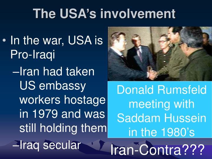The USA's involvement