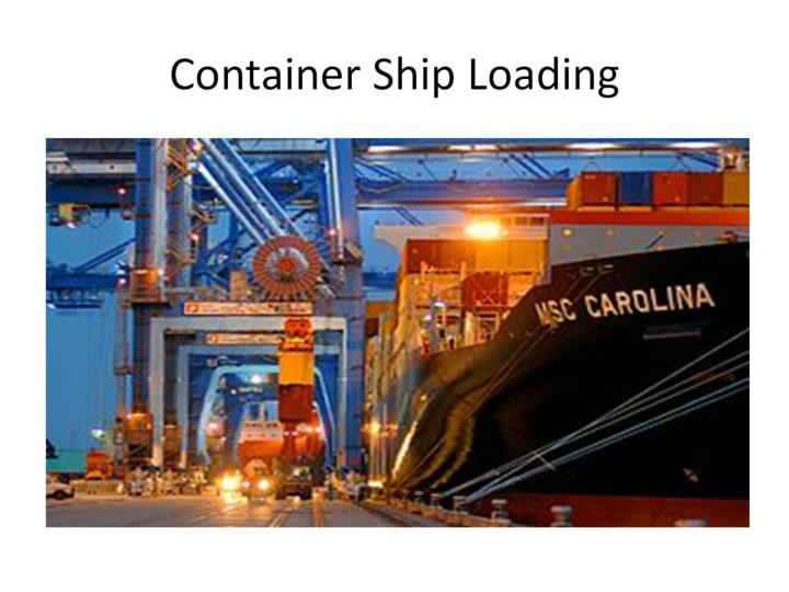 Container Ship Loading