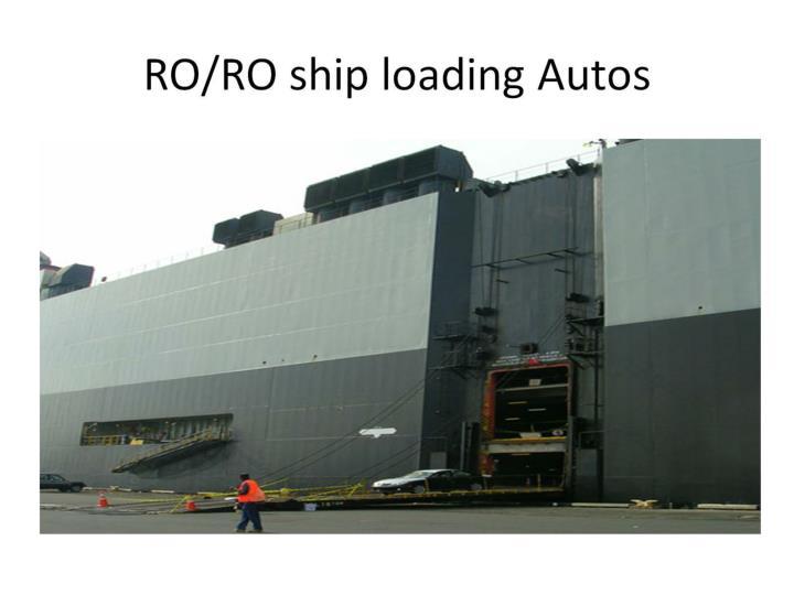 RO/RO ship loading Autos