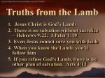 truths from the lamb