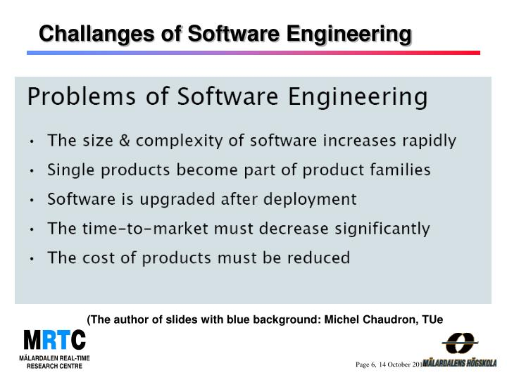 Challanges of Software Engineering