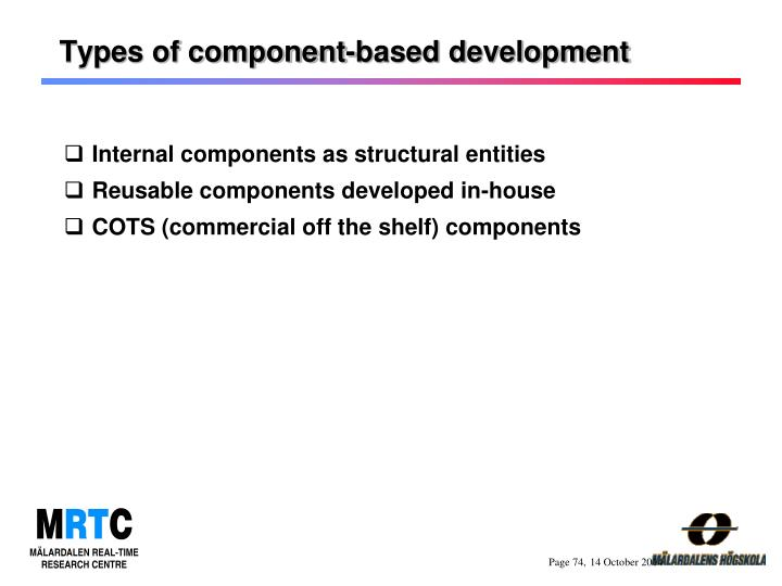 Types of component-based development