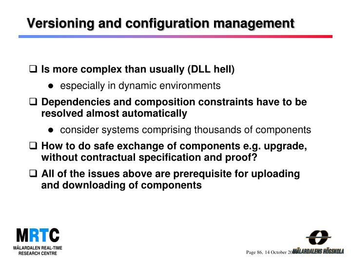 Versioning and configuration management