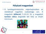 p ly zati magyar zat