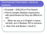 commercial information retrieval systems
