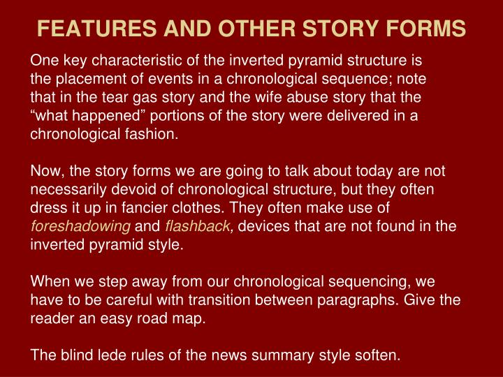Features and other story forms2