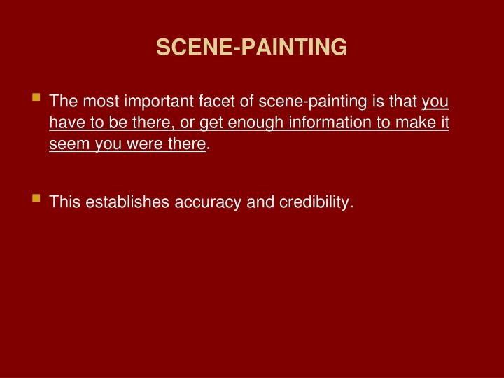 SCENE-PAINTING