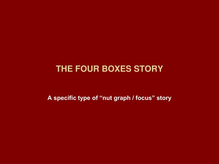 THE FOUR BOXES STORY