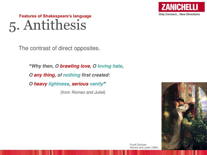 antithesis in shakespeare