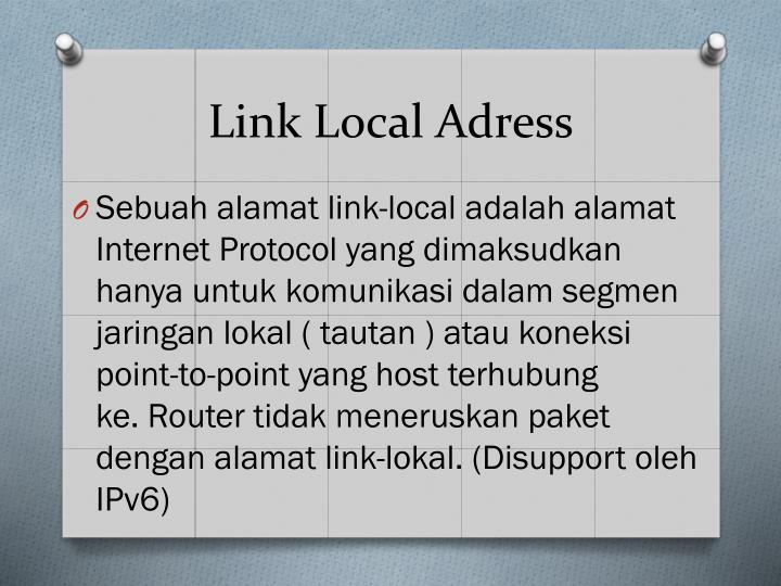 Link Local Adress