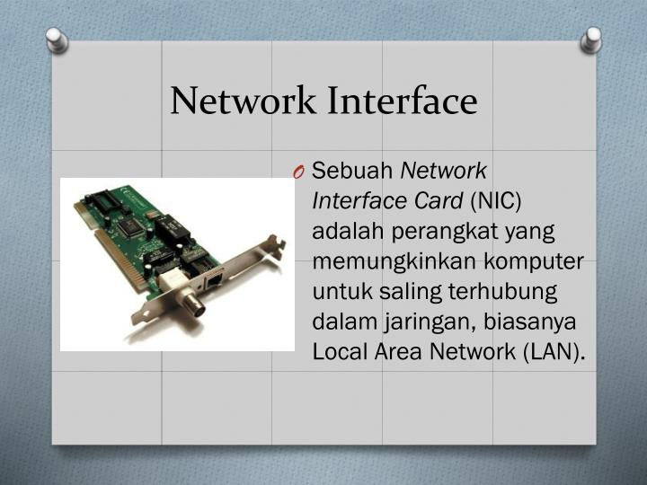 Network interface1