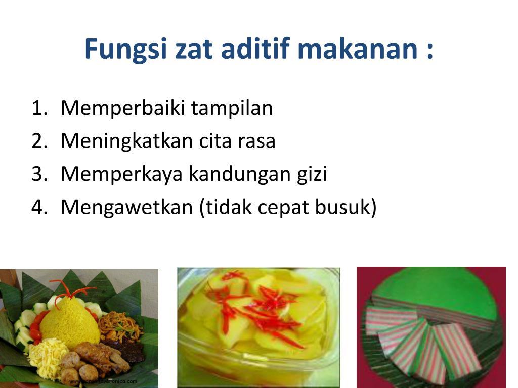 PPT - ZAT ADITIF DALAM BAHAN MAKANAN PowerPoint ...