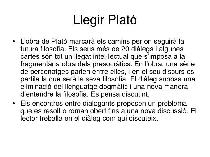 Llegir Plató