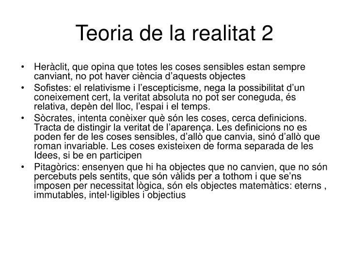 Teoria de la realitat 2