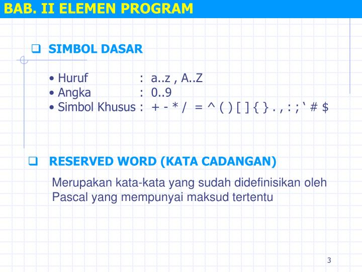 Bab ii elemen program1