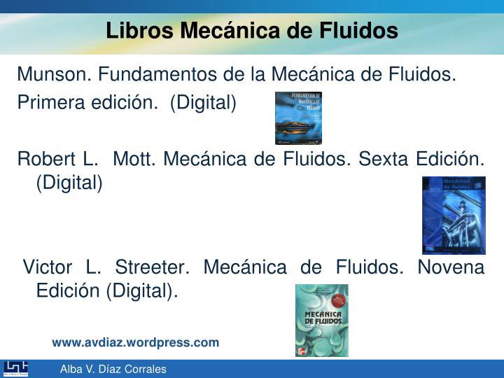 Libros Mecánica de Fluidos