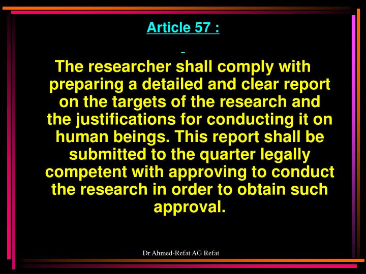 Article 57 :
