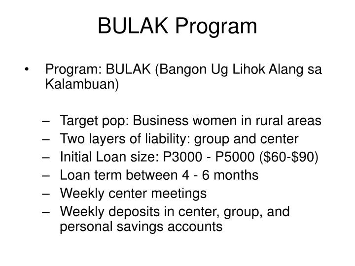 BULAK Program
