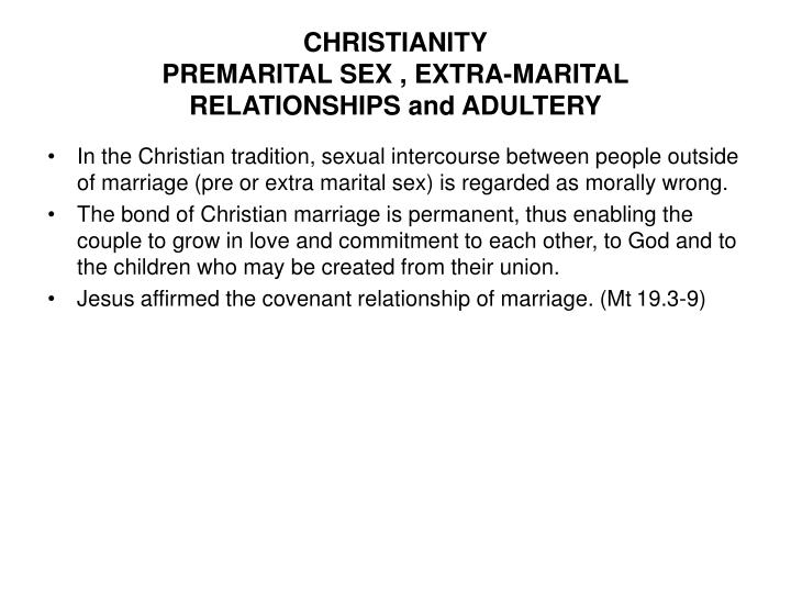 pre marital sex essay Christians talk a lot about premarital sex and i think that's a mistake i don't think it's a mistake because the issue is unimportant but because the grammar is skewed.