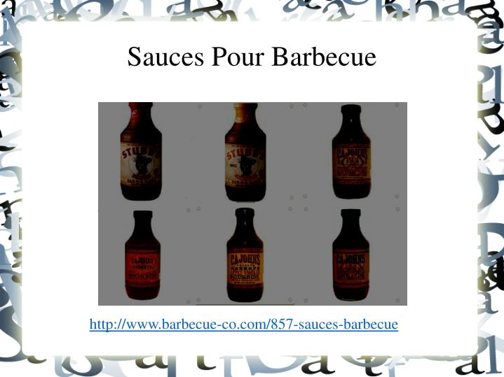 sauces pour barbecue n.