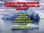 a latina algunas iniciativas y acuerdos de integraci n no comercial