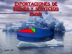 exportaciones de bienes y servicios mundo