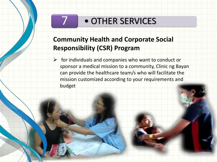 Community Health and Corporate Social Responsibility (CSR) Program