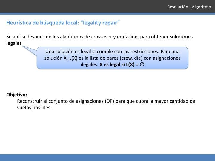Resolución - Algoritmo