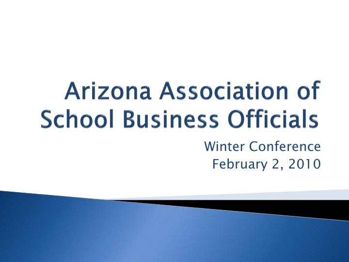 arizona association of school business officials n.