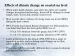 effects of climate change on coastal sea level