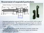 measurement of suspended particulates