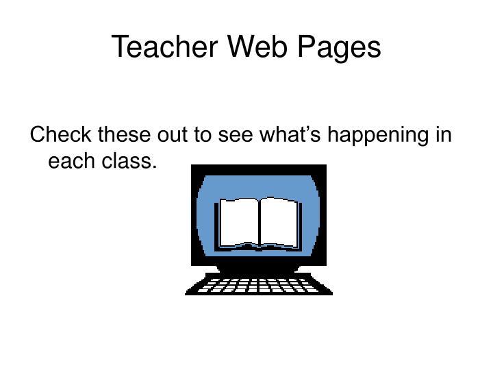 Teacher web pages