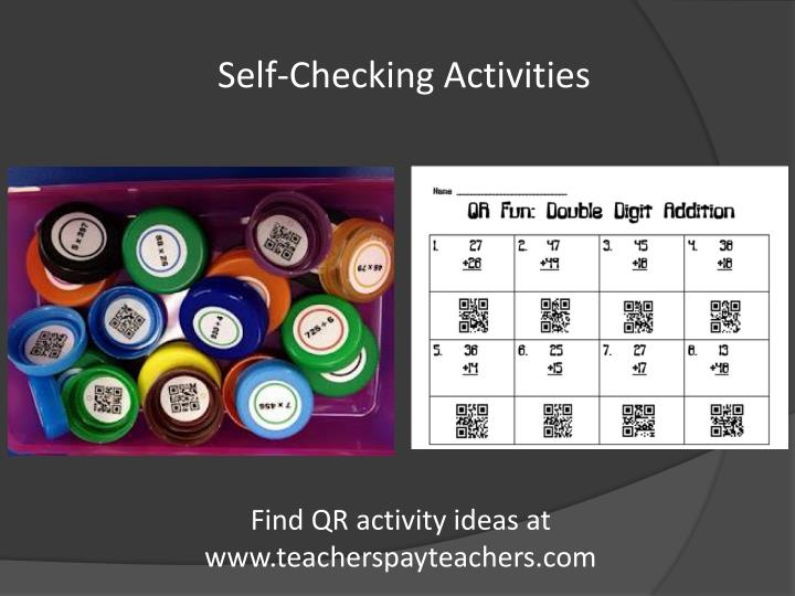 Self-Checking Activities