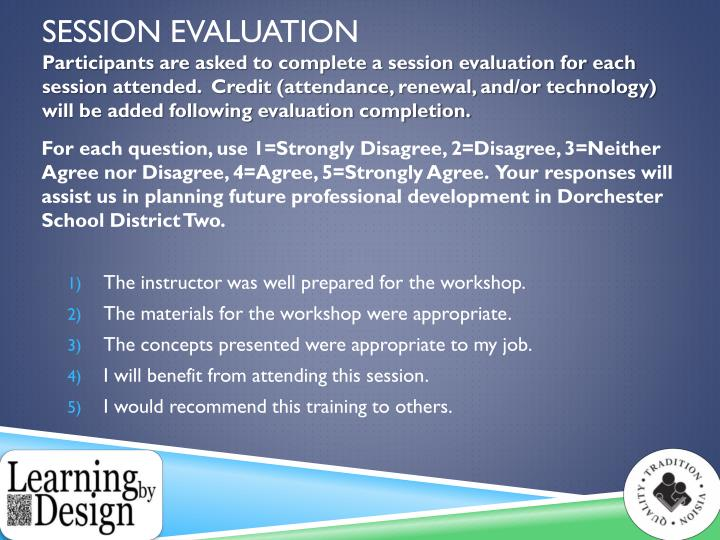 Session Evaluation