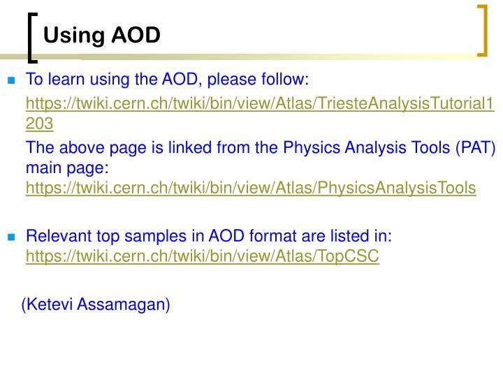 Using aod