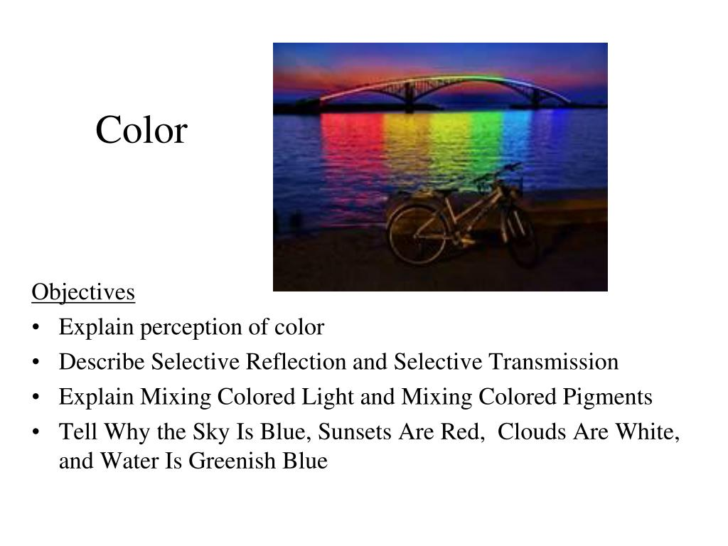 how to explain color