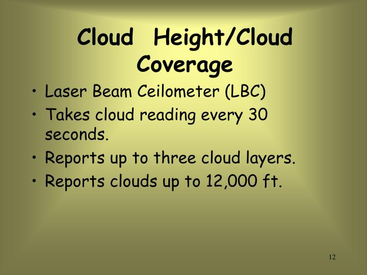 Cloud  Height/Cloud  Coverage