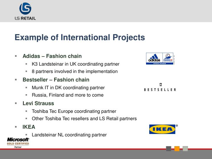 Example of International Projects
