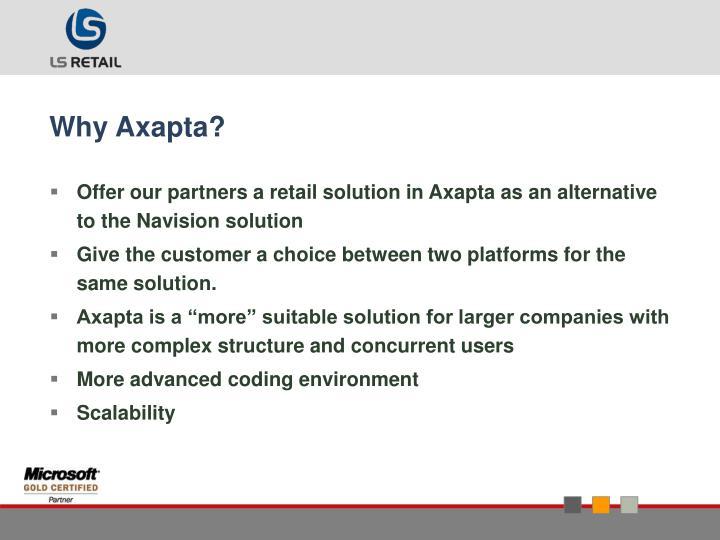 Why Axapta?