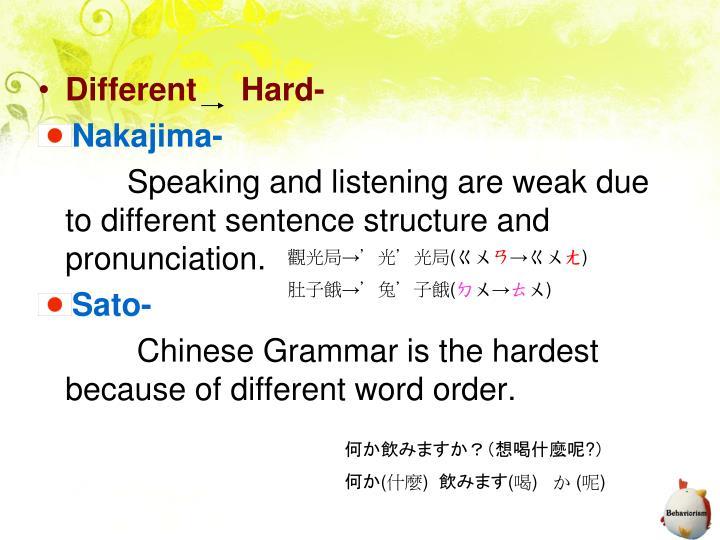Different     Hard-