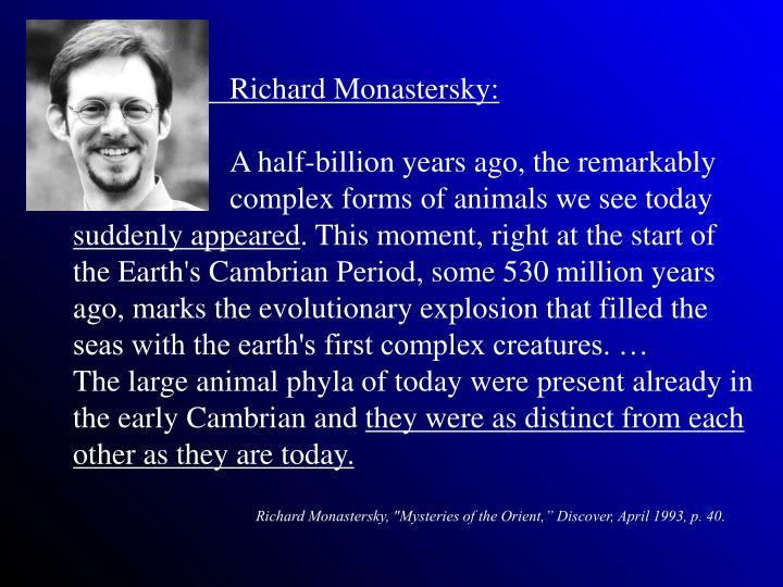 Richard Monastersky: