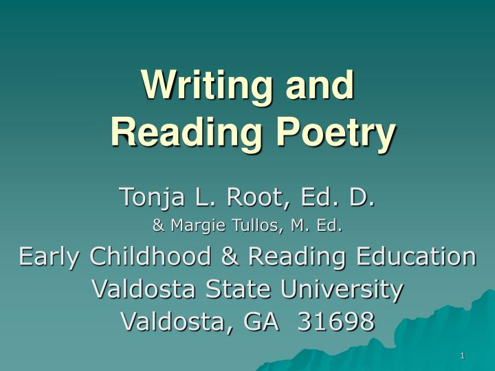 writing and reading poetry n.