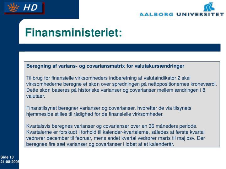 Finansministeriet: