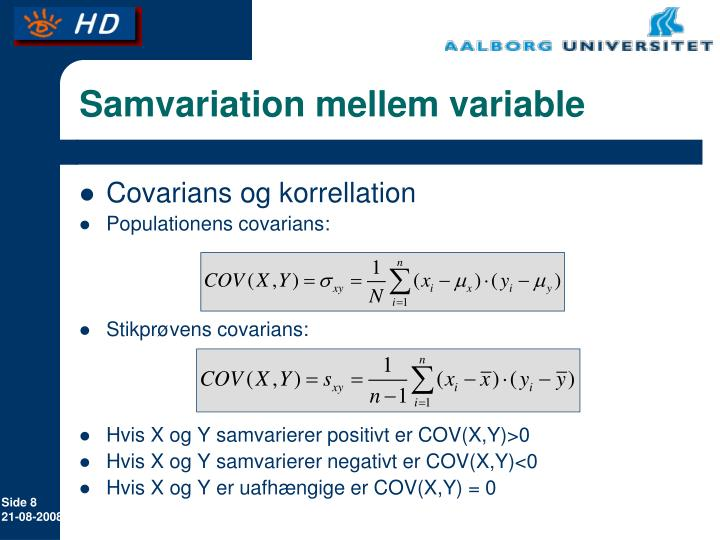 Samvariation mellem variable