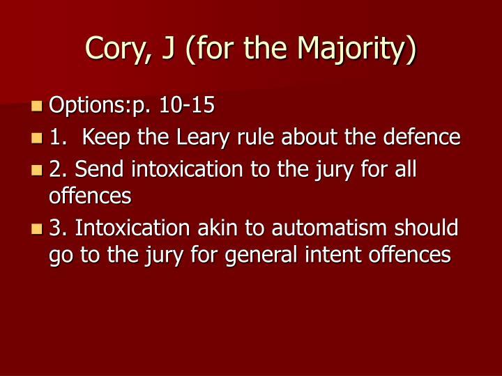 Cory, J (for the Majority)