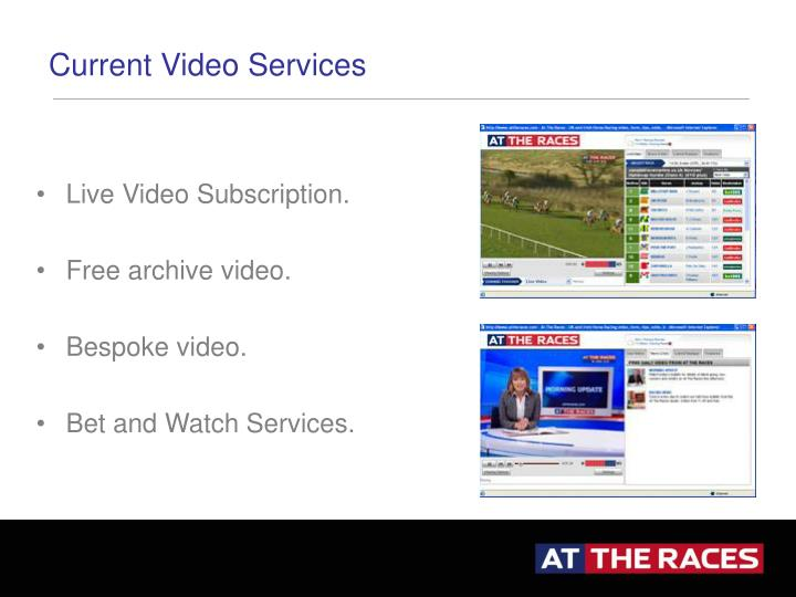 Current Video Services
