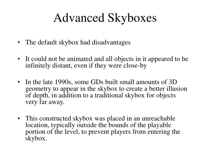 Advanced Skyboxes